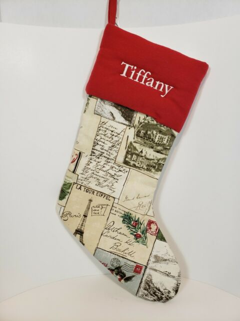 Pottery Barn Vintage Style Christmas Stocking Tiffany