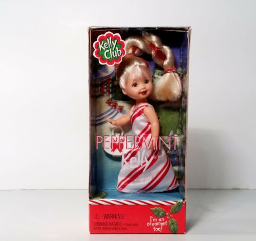 Barbie Kelly Club Peppermint Kelly Doll Ornament Mattel 2001 NEW