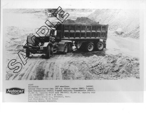 MORSE SAND /& GRAVEL AUTOCAR DC103 /& DUMP TRAILER 8x10 B/&W Glossy Photo #2