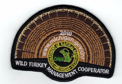 2010 MICHIGAN DNR SUCCESSFUL TURKEY-DEER HUNTER PATCH PINBACK HUNTING LICENSES