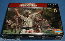STRELETS SET M 114. WW2 JAPANESE TROOPS IN TROPICAL UNIFORM. 1/72 SCALE.