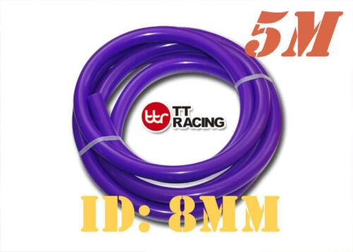"8mm 5//16/"" Silicone Vacuum Tube Hose Tubing Pipe Purple 5 Meters 5M 15.5FT"