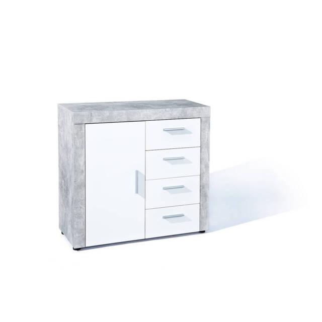 Anrichte Kommode Sideboard Beton1 3 Betonoptik Weiss Ebay
