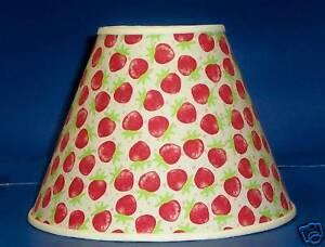 Strawberry handmade lamp shade strawberries lampshade ebay image is loading strawberry handmade lamp shade strawberries lampshade aloadofball Choice Image