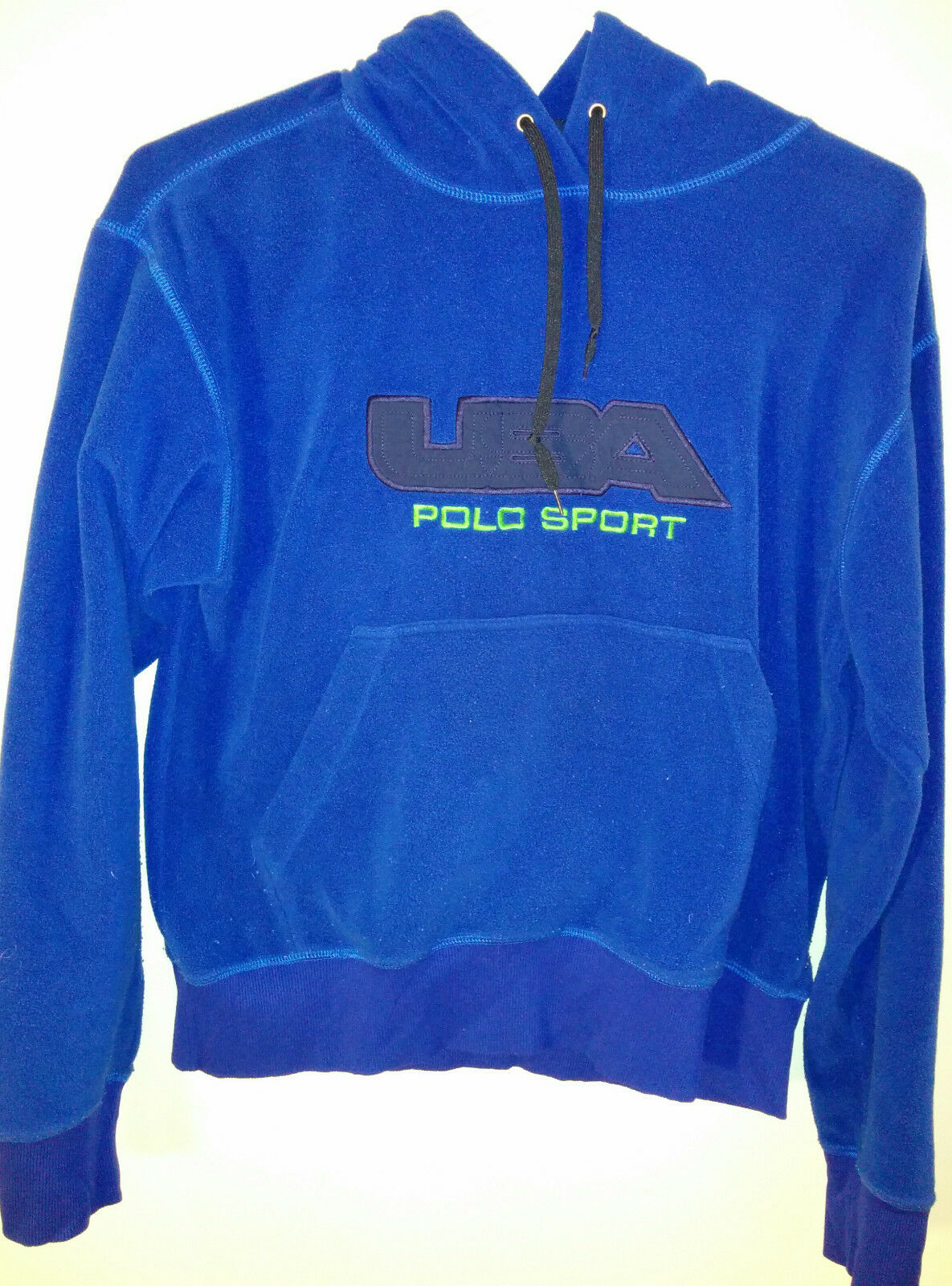 Vintage Ralph Lauren Polo Sport Hoodie Made in USA Embroiderot Hard to find