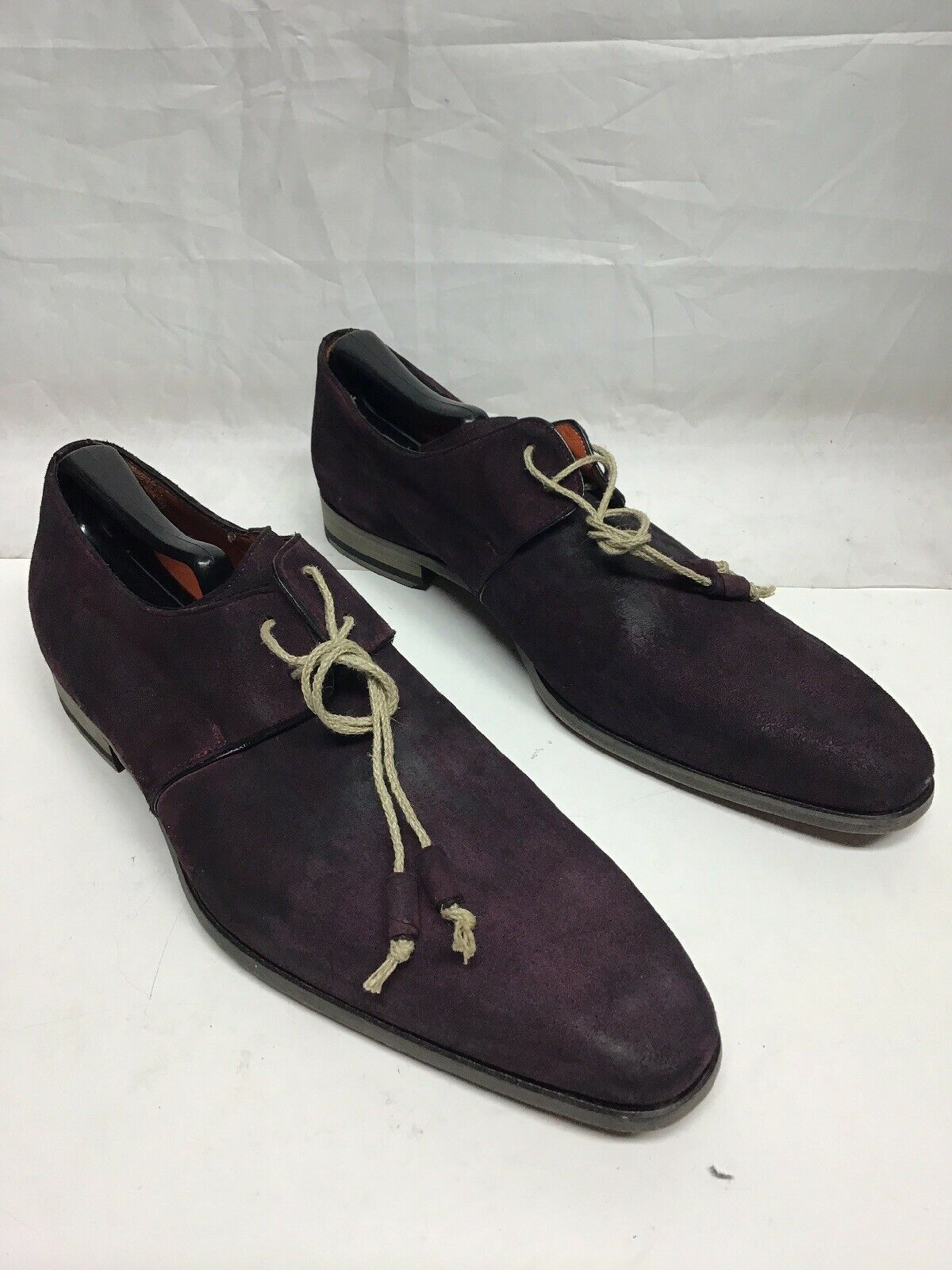 Mezlan Burgundy Suede Laceup Burnished Burgundy Oxfords 10 M