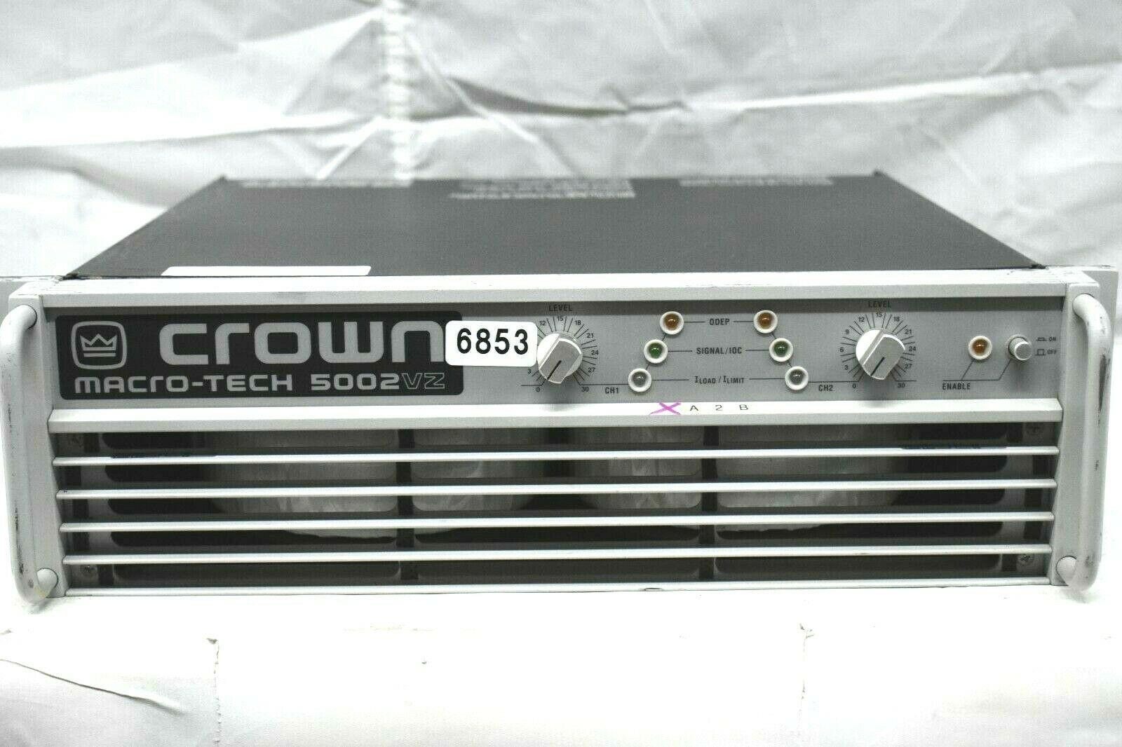 CROWN MARCO TECH MA5002VZ 120V POWER AMPLIFIER  6853 (ONE)