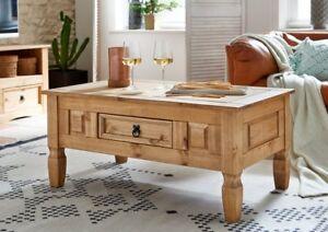 Sam Holz Couchtisch Tisch Mit Schublade Mexico Massiv Kiefer 100 X