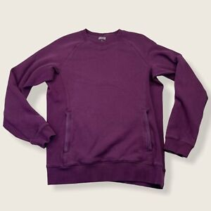Duluth Trading Company Women's Rib Crewneck Sweatshirt Small Maroon