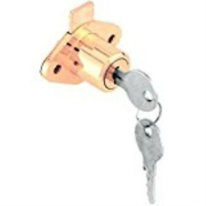 Prime-Line Products U 9947KA Diecast Brass Plated Drawer & Cabinet Lock with Yal