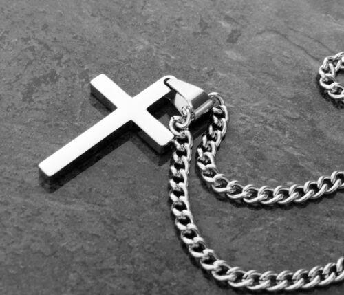 Halskette Kreuz Anhänger Edelstahl Kreuzkette Herren Schmuck