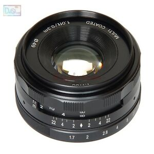 35mm F1.7 Manual Lens for Sony E Mount NEX 3N 5R 5T 6 7 A6300 A6000 A5100 A5000