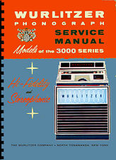 MANUALE COMPLETO (manual) JUKEBOX WURLITZER 3000 - 3010  (juke box) (1966)