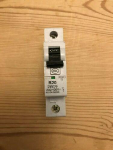 32 AMP TYPE B 6 kA MCB CIRCUIT BREAKER SENTRY 5906S MK 6 20 16 5932s