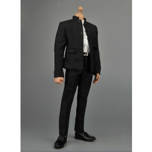 1-6-Black-Chinese-Tunic-Suit-Accessories-for-12-034-Males-BBI-Dragon-DID-Figure