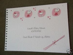 baby shower new baby message guest book album baby elements ebay