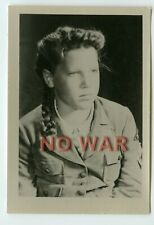 Wwii Original German Photo Girl From Bdm In Uniform 1