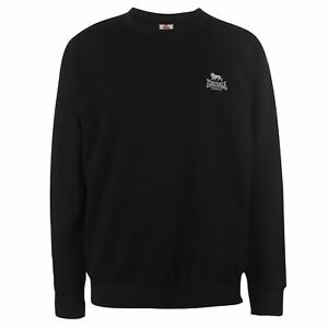 3e0c4f52b Image is loading Lonsdale-Fleece-Crew-Pullover-Mens-Gents-Jumper-Full-