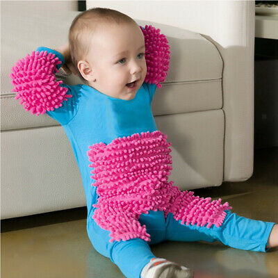 Baby Romper Outfit Infant Toddlers Polishes Floors Cleaning Costume Clothes