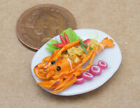 1:12 Scale Lobster On A Plate Dolls House Miniature Kitchen Food Accessory