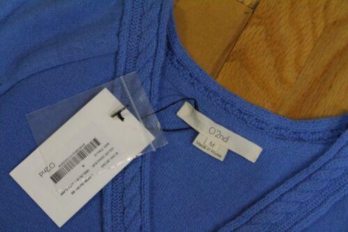 Uld Cash O'2nd Med Cable Ny Etiketter Sweater Medium Størrelse Lyseblå OSxq6vF