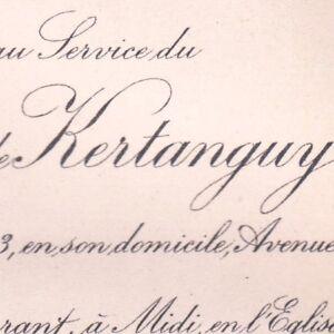 Baron-Ulric-Salaun-De-Kertanguy-Paris-1er-Fevrier-1913-Mespaul-Finistere