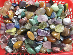 1-2lb-Different-Mixed-Crystal-Tumble-stones-Polished-Natural-Gemstones-Healing