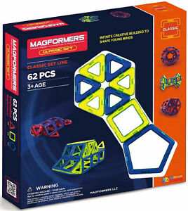 63070 Magformers 62 Pcs Standard Magnetic Construction Set