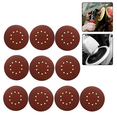 10pc Hook And Loop 9 Inch 10 Hole 40 Grits Sand Paper Sanding Discs Sanderpaper