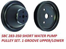 Sbc Pulley Set Single Groove Swp 283 350 Steel Black Finish Set Upper Lower