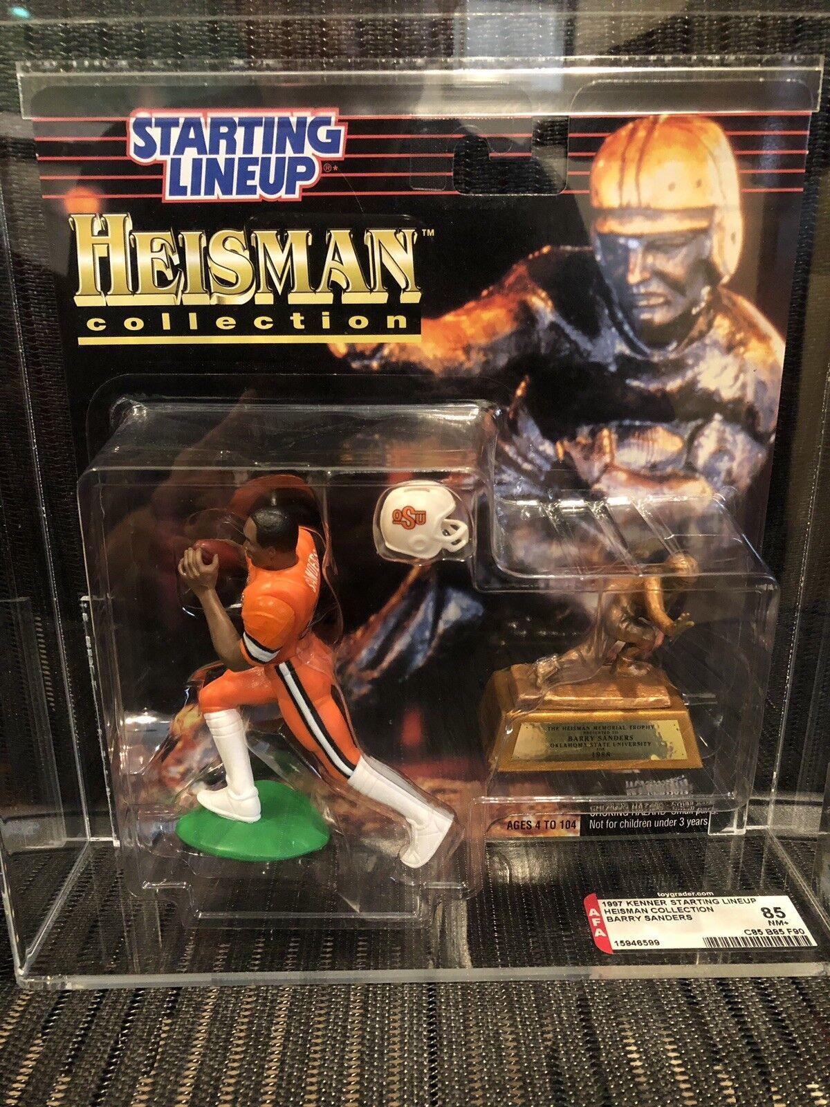1997 Starting Lineup Barry Sanders Heisman Collection AFA 85 (85 85 90)