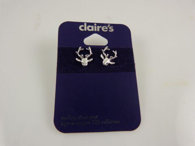 Sterling Silver christmas  reindeer post studs earring  earrings 925  xmas