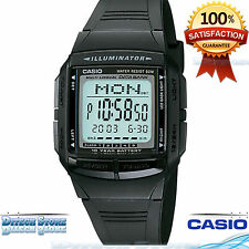 Casio DB36-1AV Men's Black Resin 10 Year Battery 30 Page Databank Watch New DB36