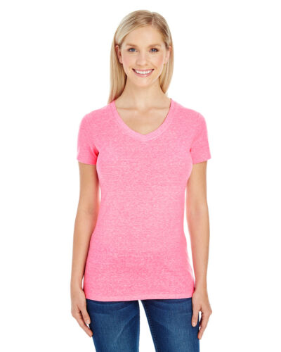 Threadfast Apparel Ladies Junior Fit Tri-Blend V-Neck T-Shirt 202B