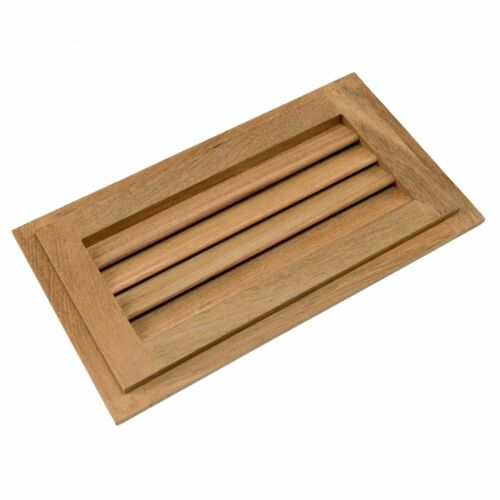 "Whitecap Teak Louvered Insert 6-3//8/"" x 11-3//16/"" x 3//4/"""