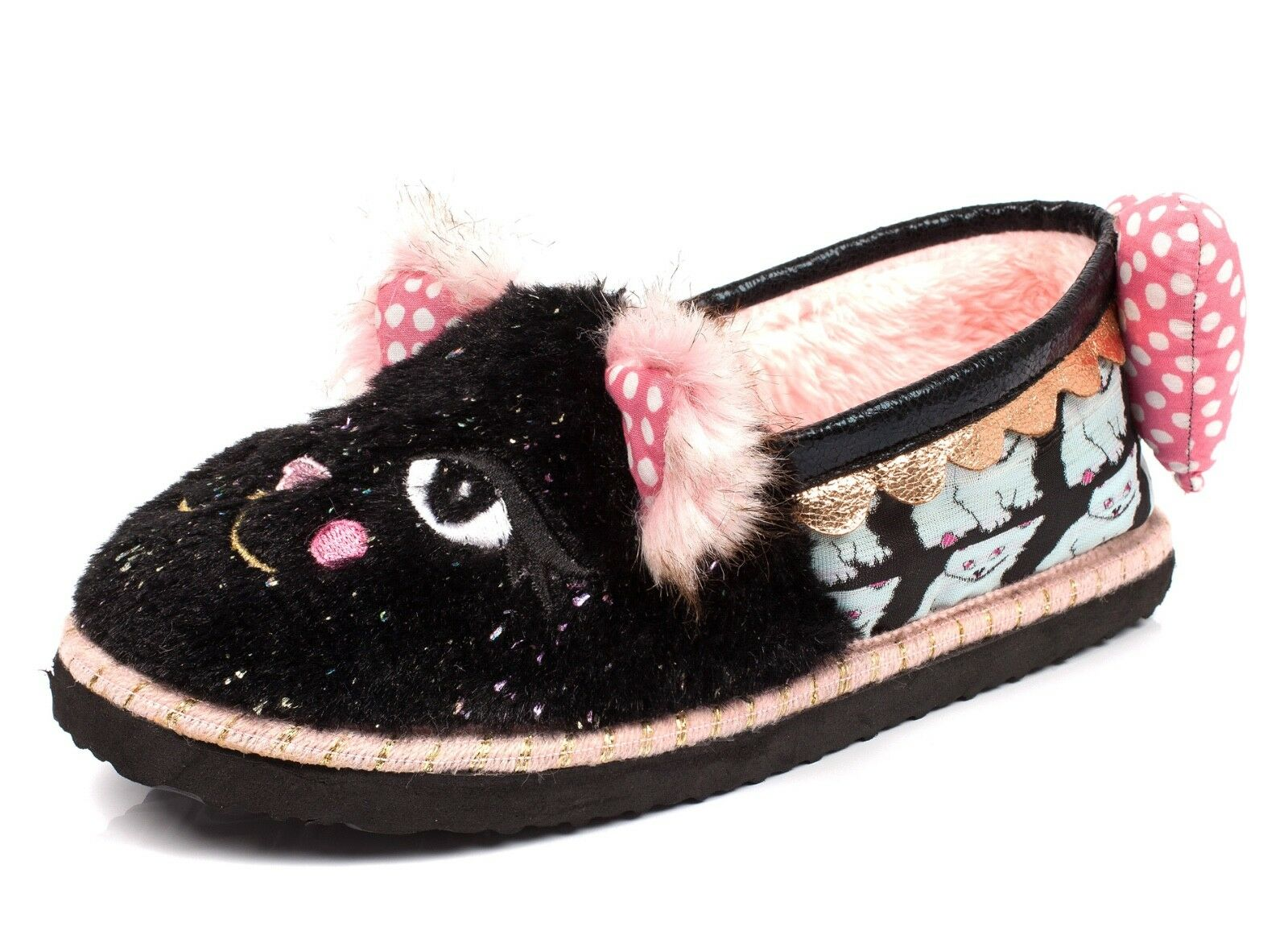 Irregular Choice NEU Cat Nap furry kitten Damens's fashion slippers Größes 3-9