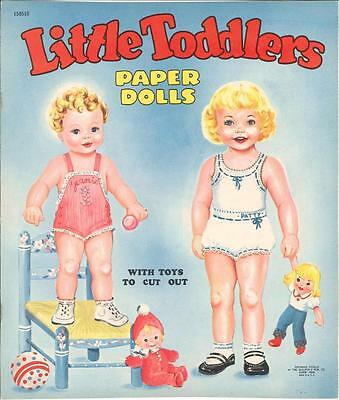 VINTAGE UNCUT 1940S LITTLE TODDLERS PAPER DOLLS ~CUTE HD LASER REPRODUCTION