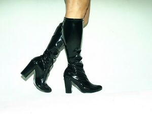Latex Rubber High Boots Size 6 16 Heels 5 39 11cm Producer Poland New Fs1329 Ebay