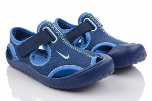 ea8a1aa96 Nike Sunray Protect Blue Water Sandals Infants Size 2 Heel to Toe 3 ...