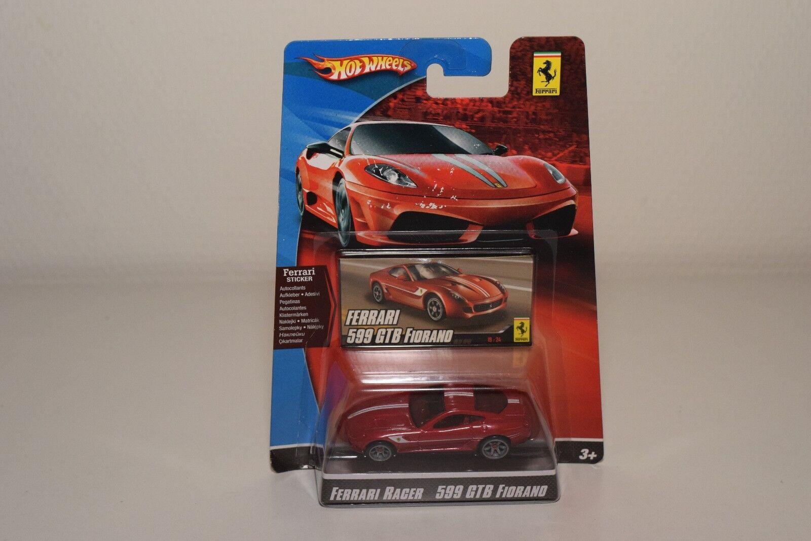 V 1 64 HOTWHEELS RACER FERRARI 599 GTB FIORANO RED MINT BOXED ON CARD RARE
