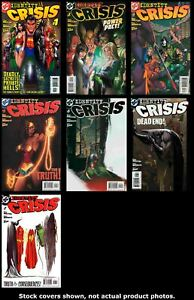 Identity-Crisis-1-2-3-4-5-6-7-DC-2004-Complete-Set-Run-Lot-1-7-VF-NM