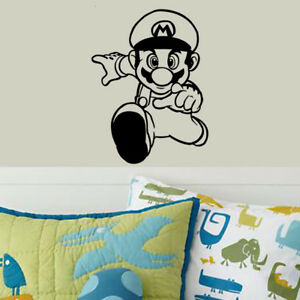 Image is loading Super-Mario-Wall-Art-Stickers-Bedroom-Decals-for-  sc 1 st  eBay & Super Mario Wall Art Stickers Bedroom Decals for Kids Room Games ...