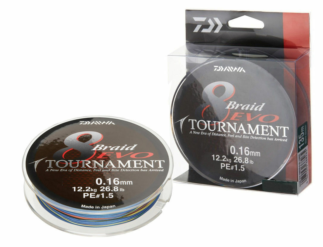 Daiwa TournaSiet 8 Braid Evo   300m   Multi Farbe   braided line