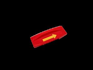 Reverse Brick with Yellow Arrow Pattern Lego Duplo TRAIN Action Brick
