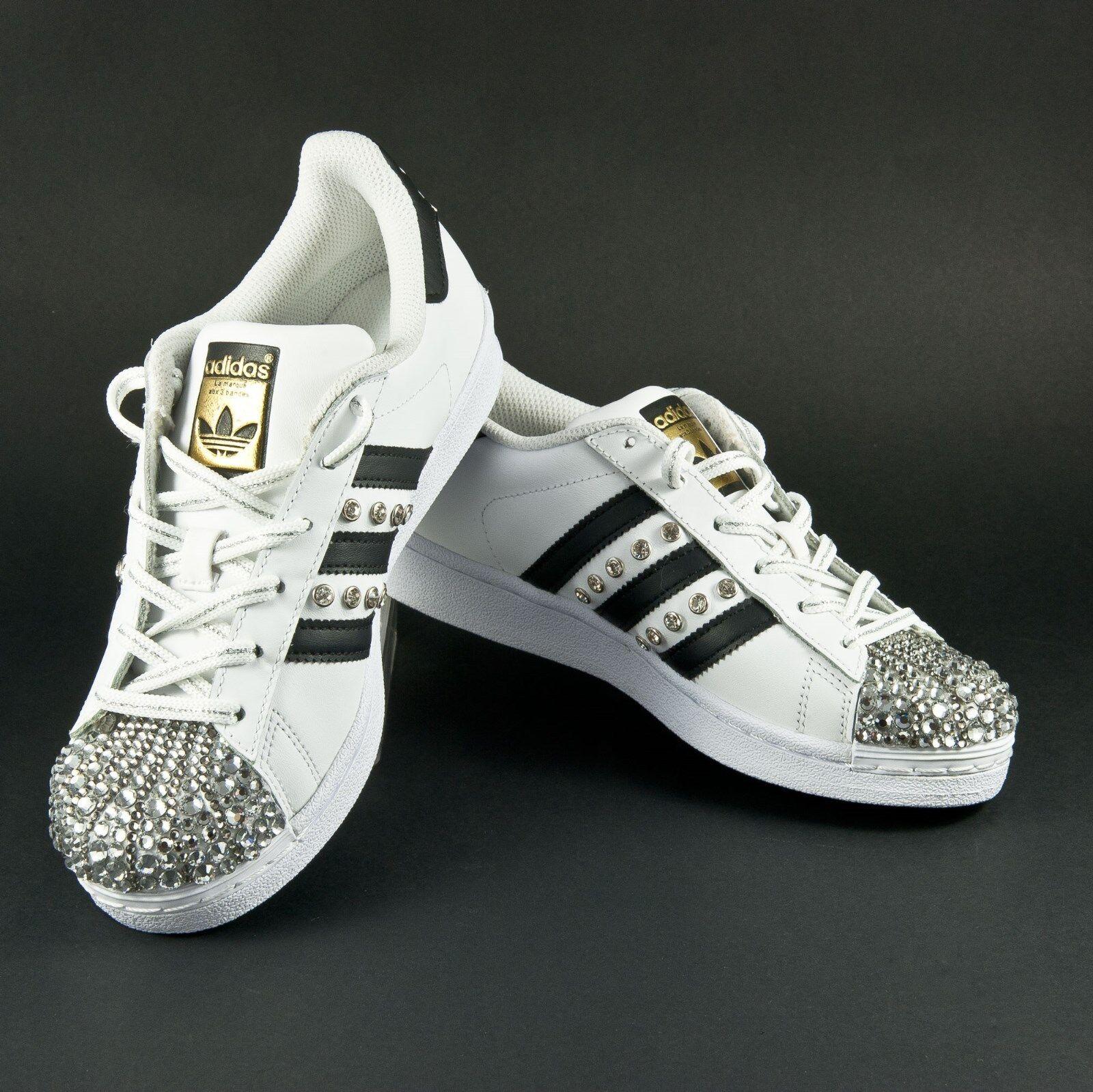 zapatos adidas superstar con con con swarosky e puntale con cristalli  toma
