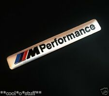 "315- BMW LOGO ""///M Performance"" MONOGRAM EMBLEM STICKER BMW MPower BADGE SILVER"