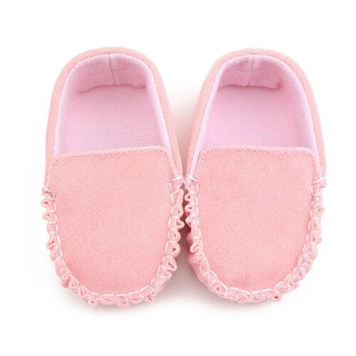 Toddler Baby Girls Boy Soft Crib Shoes Christening Pram Prewalker Doug Shoes New
