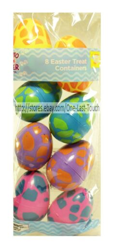 EASTER* Plastic Fillable EGG CONTAINERS Candy//Treat+More *YOU CHOOSE* New 1b