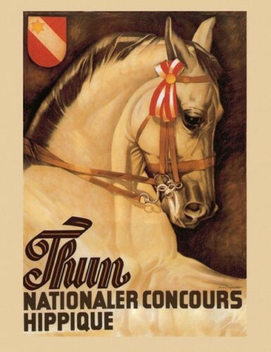 Horse Show Equestrian Event Thun Vintage Poster Reproduction FREE SHIPPING