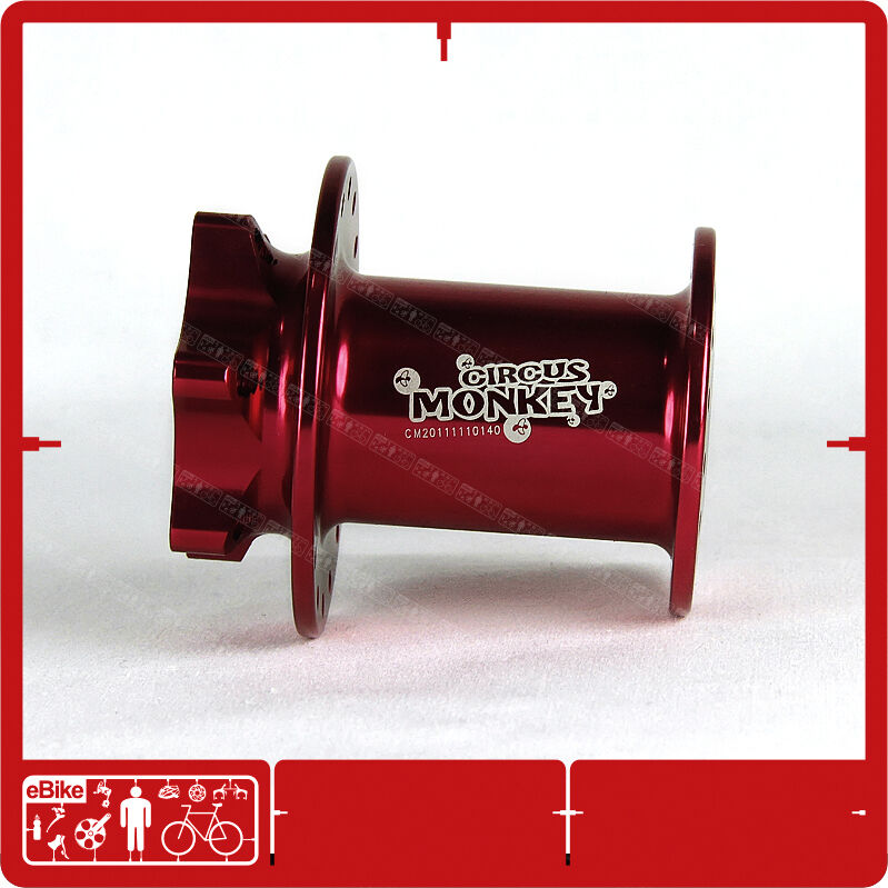 Circus Monkey HDW Lefty 28 H 6 Bolt  Front Disc Hub Cannondale 130g CNC Red